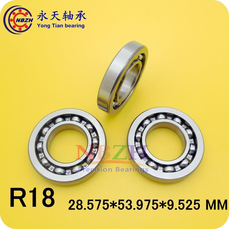 R18K R18 open english inch Bearing Miniature Ball Radial Bearings EE10  28.575*53.975*9.525 ABEC-5 1pcs 71901 71901cd p4 7901 12x24x6 mochu thin walled miniature angular contact bearings speed spindle bearings cnc abec 7