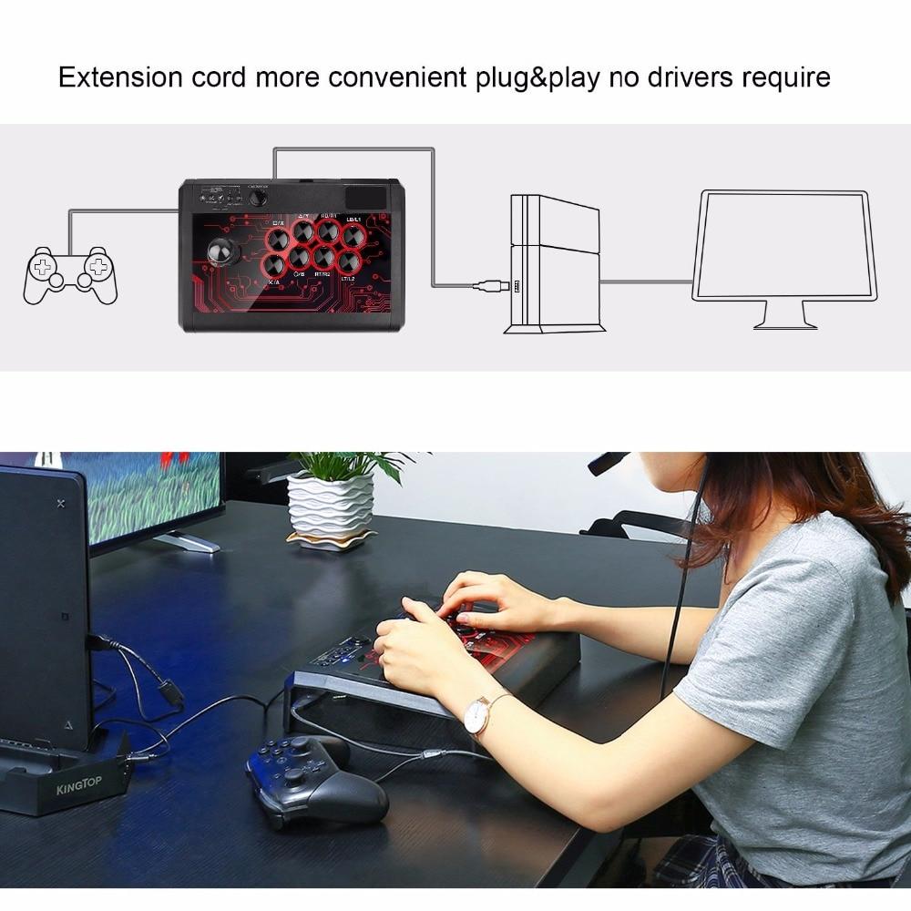 Manette de combat de bâton de combat d'arcade pour Sony Playstation 4 PS4/mince/Pro/PS3/XBOX ONE S/XBOX 360/PC/Android/commutateur - 3