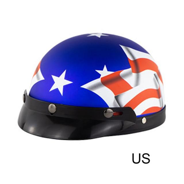 2020 nowy Brand NEW Vintage kask motocyklowy otwarta twarz