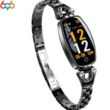696 Smartwatch H8 Women Smart Band Wearable Device Bluetooth Pedometer Heart Rate Monitor Wristband Fitness Bracelet For Android