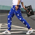 2016 casual pants men star print pantalon homme harem pants men Brand sweatpants cotton trousers male pants Joggers sweat pants