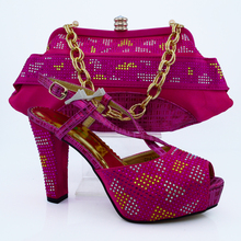 Italian Shoes With Matching Bag High Quality For Flower Italy Shoes And Bag For Evening Free