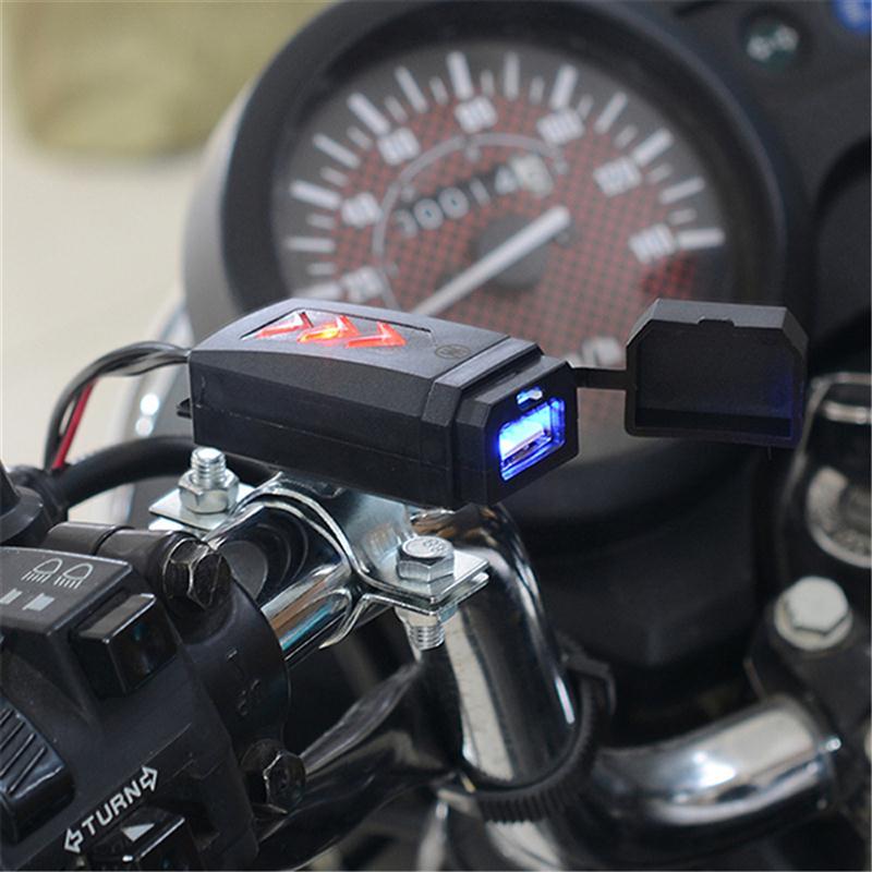 Universal 12 24V Waterproof Motorcycle Charger Car Scooter Handlebar ...