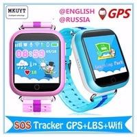 GPS WIFI Relógio Inteligente Q750 Q100 bebê assistir tela sensível ao toque de 1.54 polegadas SOS Dispositivo de chamada Local Tracker para Kid Safe PK Q50 Q60 Q80 Q90
