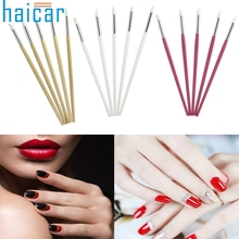 Haicar 5Pcs Silicone Rubber Pen Sculpture Pottery Carving Modeling Clay Nail Art