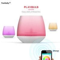 Tanbaby playbulb Smart Bluetooth LED sin Llama luz RGB perfumado romántico té luz inalámbrica aromaterapia luz de la noche