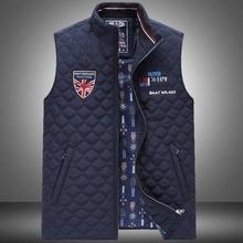 Sharked Men's Sleeveless Vest Homme Winter Casual Coats Male Cotton-Padded Men's Warm Vest Men Waistcoat Plus size 4XL