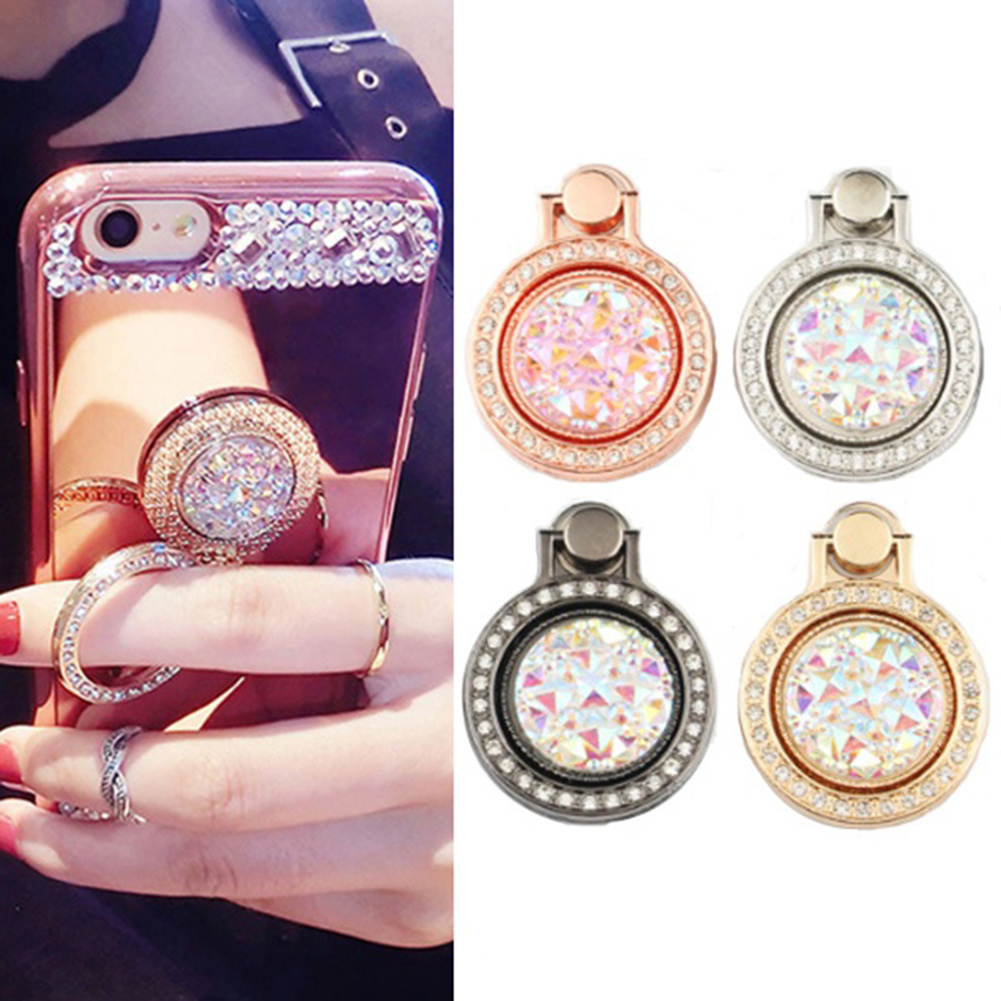 Bright Fashion Shiny Rhinestone Phone Ring Stand Finger Holder Gift For Iphone Ipad Mobile Phone Holders & Stands