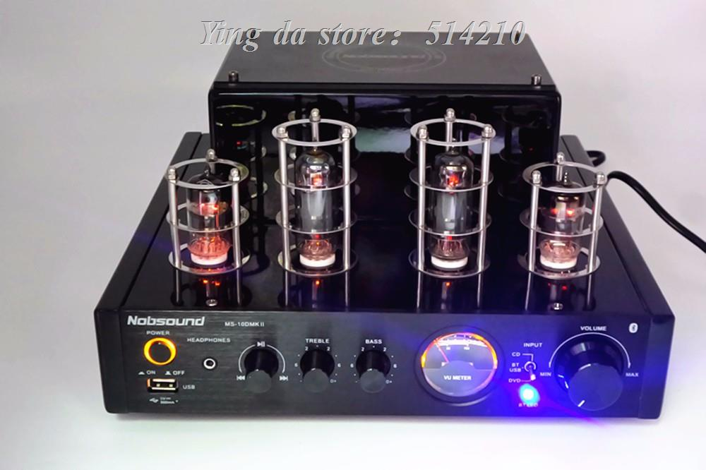 2019 NEW Nobsound MS-10D MKII tube amplifier with Bluetooth 4.2 /USB/headphone HIFI Stereo AMP audio amplifier image