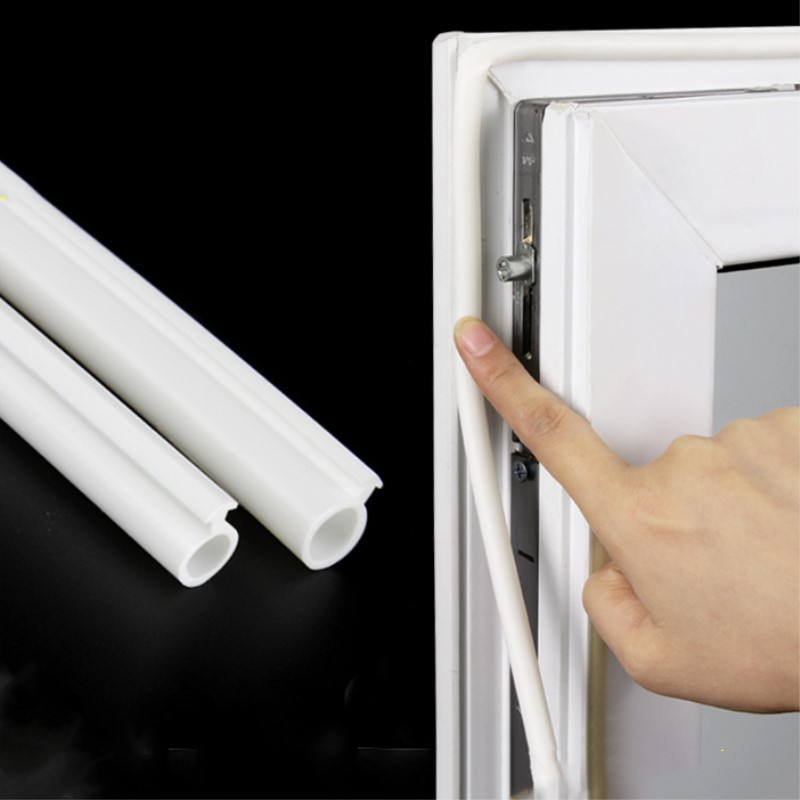 Silicon Rubber Door Window Seals Draft Stopper Hollow Bulb