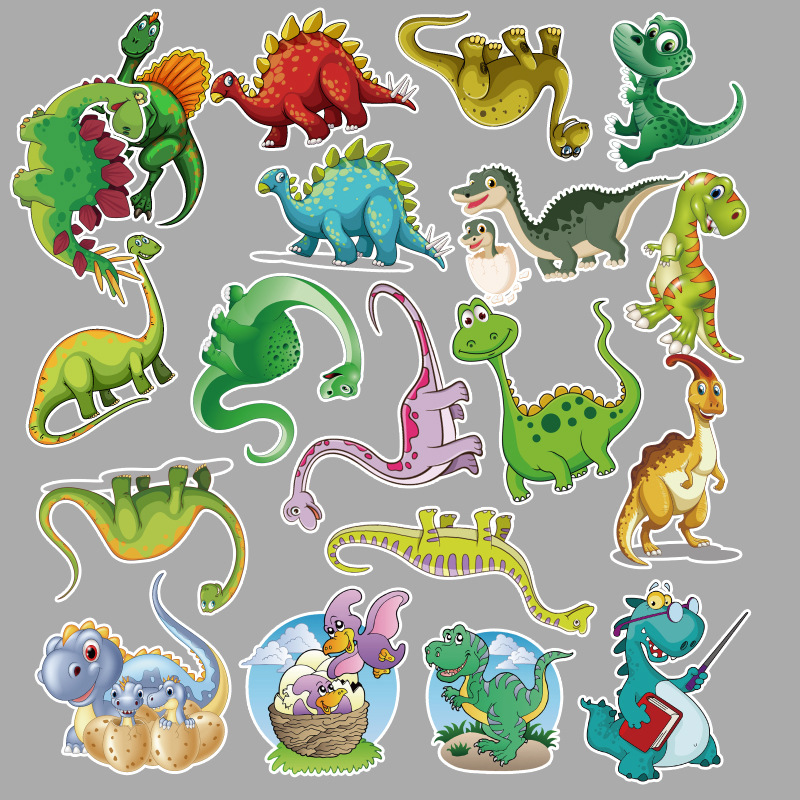 <font><b>50</b></font> pcs/pack dinosaur children cartoon <font><b>sticker</b></font> suitcase mobile phone skateboard refrigerator motorcycle waterproof <font><b>sticker</b></font> image