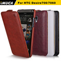 IMUCA Original Brand PU Leather Flip Case for HTC Desire 700 709d 7060 7088 Phone Case Shell Skin Cover