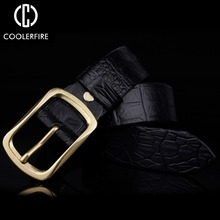 Top crocodile skin belt  luxury high quality Genuine Leather bels for men designer automatic buckle mens sisley gel doux nettoyant