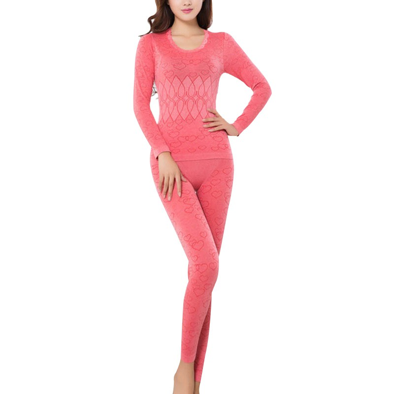 2 Piece/set Female Spring Thermal Long Underwears Women Breathable Warm Long Johns Slim Underwear Set Bottoming Ropa Mujer Invi
