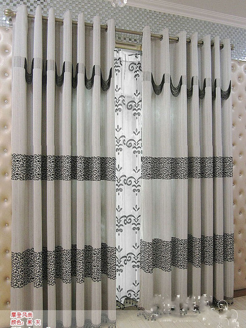 Rustic Curtains For Living Room Us 41 6 2014 New Arrival Modern Brief Grey Curtain Chinese Style Black Jacquard Curtain Window Curtain Rustic Curtains For Living Room In Curtains