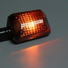 2Pcs Turn Signal Lamp 12V 2.5W Motorcycle Turn Signal Indicator Light Motorbike Amber Lamp E8 Bulb Energy Saving Long Lifespan