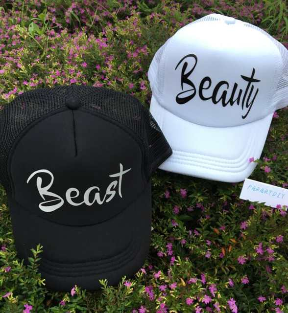 6ed1cc85cdad9 Online Shop personalized beast and beauty wedding bride bridesmaid  Bachelorette Mesh Trucker Snapback trucker hats caps party gifts favors