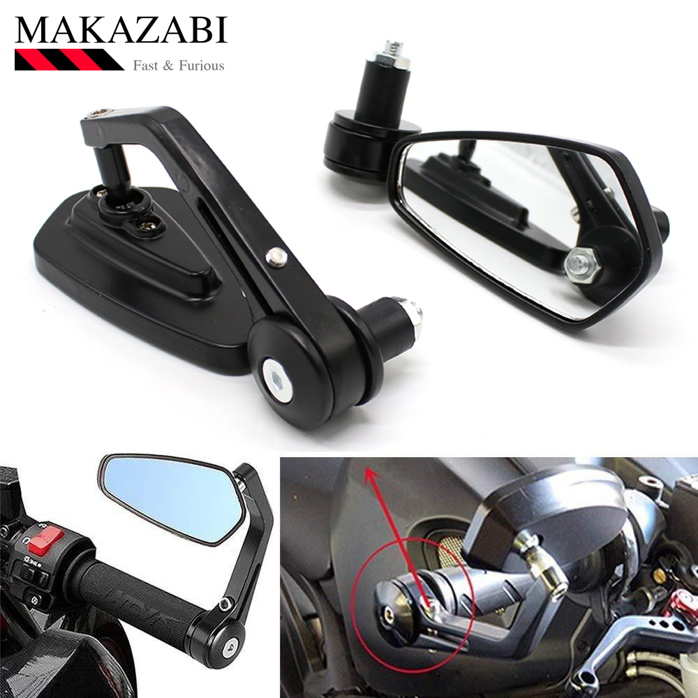 CNC Aluminum Motorcycle Cruiser Chopper Scooter Rear View Side Mirrors KTM Super