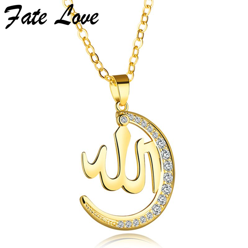 Buy Fate Love 2017 Fashion Jewelry Women Necklace Cute Moon Pendant Gold Color Extended Chain Statement Necklaces Choker Party Gifts for $3.88 in AliExpress store