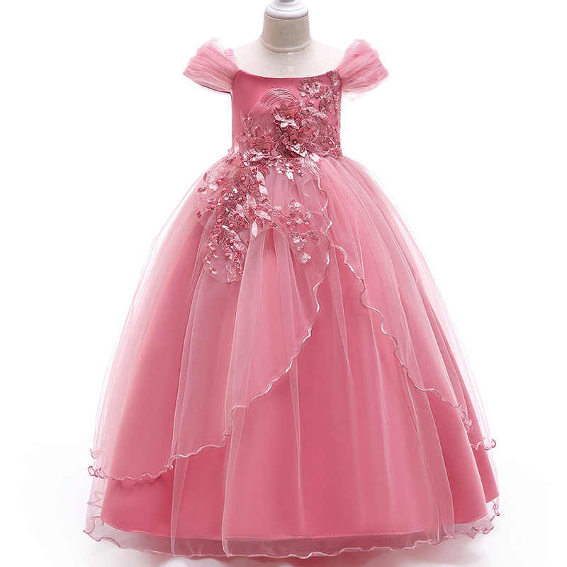 cc5a9189e80c ... Baby Girls Dress 2018 Summer Clothes Wedding Dress Kids Dresses For Girls  Clothing Party Princess Dress ...