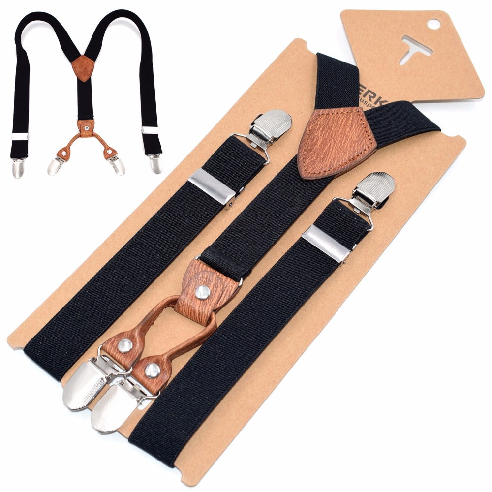 1 Width Kinder Hosentrager Elastisch Kids Suspenders 4 Strong Clips Straps Y-form Slinger Length Adjustable Giarrettiere Belt Apparel Accessories