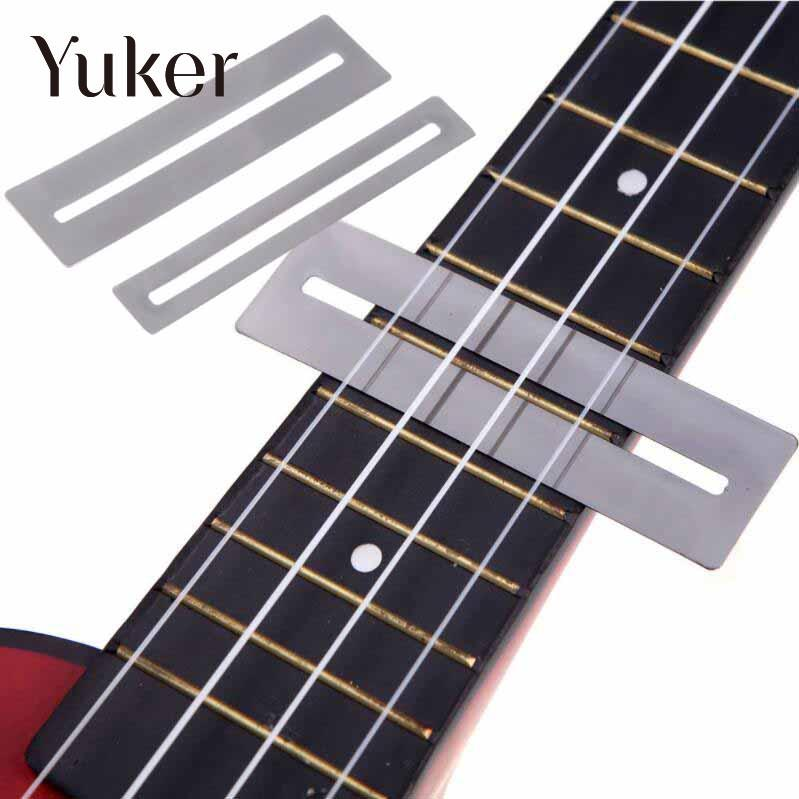Yuker 2 Pcs Stainless Steel Fretboard Fret Protector Fingerboard Guards For Guitar Bass Luthier Tools rotosound rs66lc bass strings stainless steel