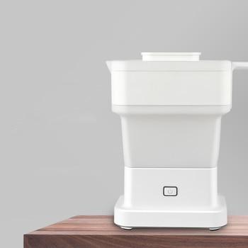 100V-240V Electric Kettle 0.6L Square Folding Portable Travel Kettle Insulation Teapot Household Kettle Boiling Water Kettle