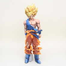 Dragonball Dragon Ball Z Super Saiyan Estrelas Mestre Pedaço O Son Goku Cinza Colorido ver. PVC Action Figure Collectible Modelo Toy(China)