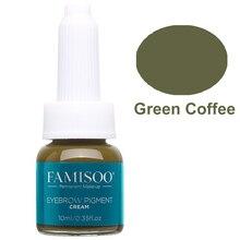 FAMISOO Permanent Makeup Microblading Eyebrow Tattoo Machine Ink Professional Pigment Eyelashes Green Coffee Pigmento Supplies