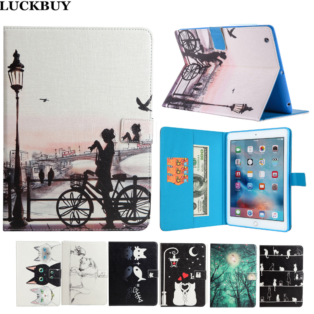 LUCKBUY for Apple iPad 2 Cases Covers Silk Pattern Cats Animal Stand Wallet Flip PU leather Silicon Case For Apple iPad 3 iPad 4 скатерти и салфетки wisan скатерть ambie 130х170 см