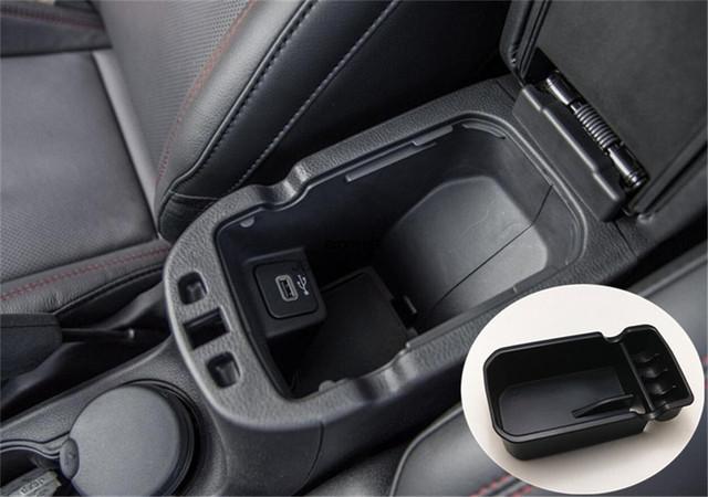Caja apoyabrazos central caja de almacenamiento organizador caja contenedor guante teléfono tablilla para jeep compass 2017