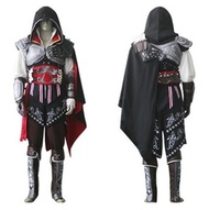 2017 New Assassin's Creed II Cosplay Costume Assassins Creed Ezio Costume Kids Men clothes sets