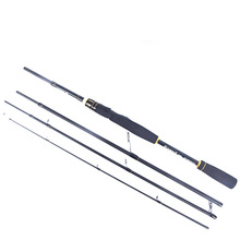 цена на 2.1m 2.4m 100% Carbon Fiber Rod Spinning Fishing Rods Casting Travel Rod 4 Sections Fast Action Fishing Lure Rod