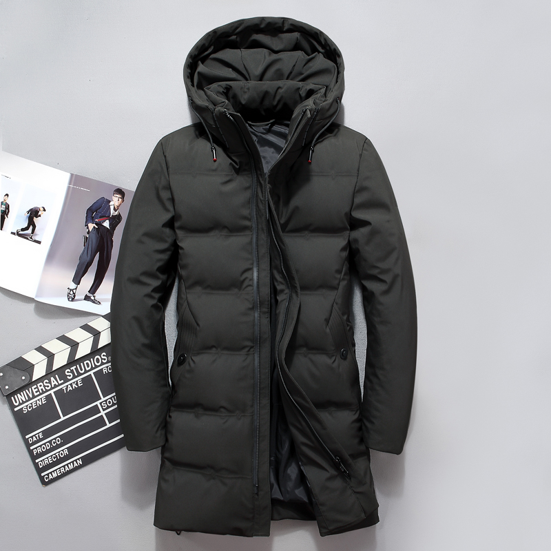2018 winter   Down     Coats   Men's high quality Classic Black and green casual Parkas men,winter Fashion jacket men   down   jackets