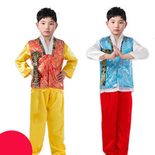 d2097c8e8f1a Summer Children Costume Male Hanbok 3 PCS Kids Asian National Korean  Traditional