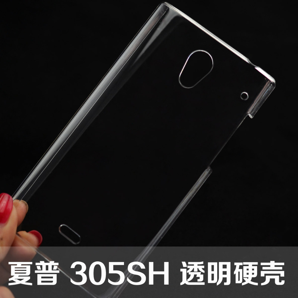 US $5 99 |For Sharp Aquos Crystal case Transparent Ultra thin hard shell  protection case For Sharp Aquos Crystal 305SH 306SH phone sets on