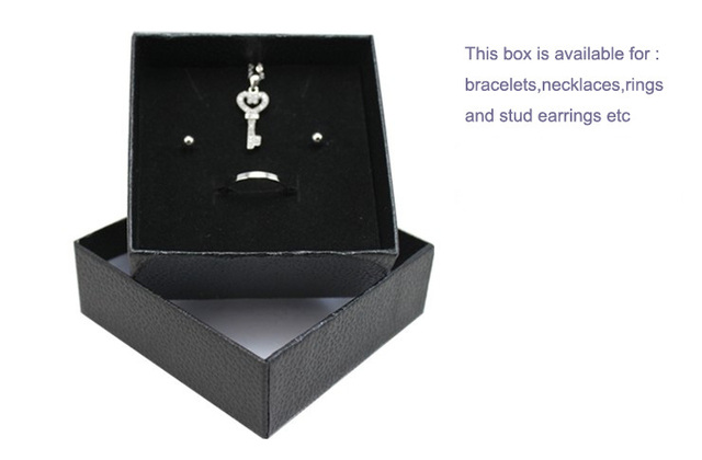 With Logo Black Gift Box For Bracelet Necklace Rings Case Storage Display Bo Women