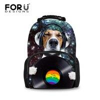 Famous Brand Women Laptop Backpacks Dog Playing Music Big Capacity Teenagers Computer Bagpack For Girls Boys