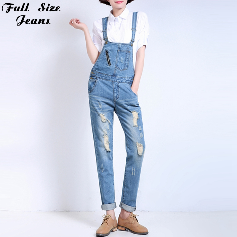 ФОТО Fall Plus Size Ripped  Bib-Jeans Rompers For Teenagers XXS 4Xl 7Xl Denim Overalls Women Club Bodycon Jumpsuits Beyonce Bodysuit