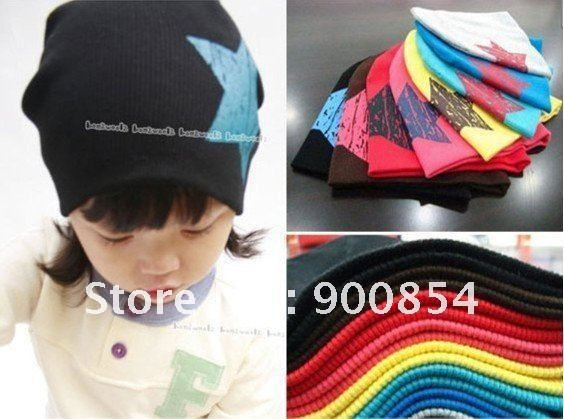 2012 Spring Top Sale style!!! Kids hats with fashion star / Cute cap hats for kids/Beanies -Royal Star