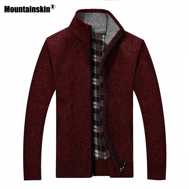 Mountainskin New Men's Sweaters Autumn Winter Warm Pullover Thick Cardigan Coats Mens Brand Clothing Male Casual Knitwear SA582 4