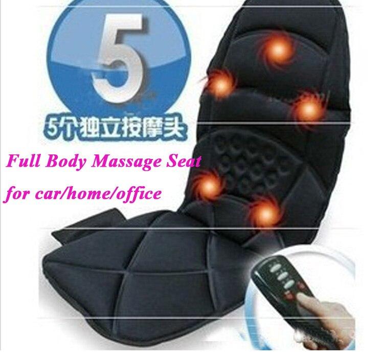 1 pièce fauteuil de massage électrique Siège Auto Home Office Voiture corps entier Santé Soins du Cou Détente