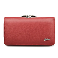HH Women Wallet And Purse Genuine Leather Lady Short Hasp Zipper Coin Wallets Clutch Bag Female