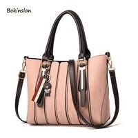 2018New PU Material Women's Tote Big Bag Fashion Handbags Messenger Bag Travel Shoulder Bags