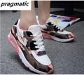 Похудения Качели Женщины Повседневная Обувь Сетки Туфли На Платформе Кожа Ходьба Бегун Обувь Тенис Feminino Zapatillas Deportivas Mujer