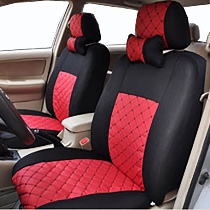 car seat cushion cover universal full set protector 5 seat rear seat detachor not interior red. Black Bedroom Furniture Sets. Home Design Ideas