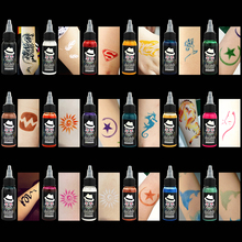 OPHIR Temporary Airbrush Tattoo Common Ink 30ML/Bottle Pigment Golden Color_TA053-11# 1pcs airbrush tattoo ink tranditional 18 colors temporary tattoo pigment high quality 500ml bottle
