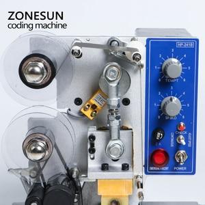 Image 4 - ZONESUN Semi automatic Hot Stamp Coding Machine Ribbon Date Character, Hot Code Printer HP 241 Ribbon Date Coding Machine