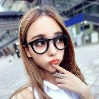 2016 Retro Round Box Optical Plain Mirror Eyeglasses Frames Men Women Prescription Eye Glasses Myopia Eyewear