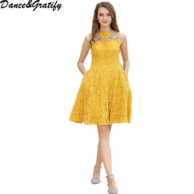 Yellow Lace Dress Promotion-Shop for Promotional Yellow Lace Dress ...